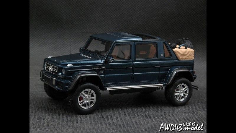 Mercedes G650 Maybach Landaulet open close roof 1 43 GLM