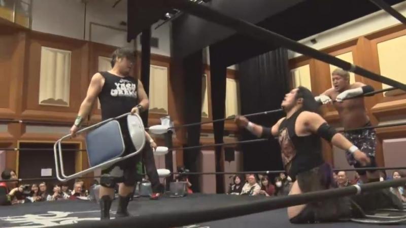 FUMA, Yusuke Kubo, SAGAT vs. Masashi Takeda, Takumi Tsukamoto, Yasu Urano (BASARA - Vajra 61 ~ Seishun Suiko Den ~)