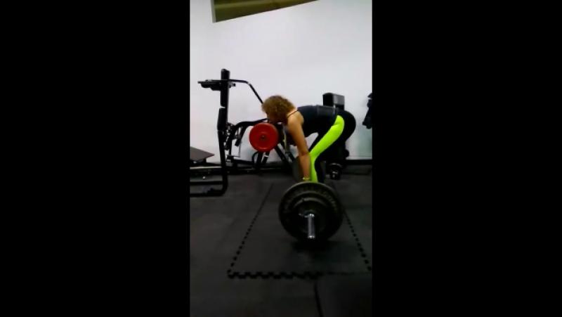 100 кг пока коряво и в лямках