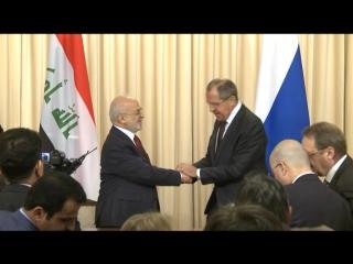 Главы МИД России и Ирака Сергей Лавров и Ибрагим аль-Джафаари провели переговоры в Москве. 23.10.2017.