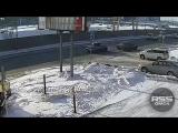 ДТП на Конева, Омск (07.02.2018)
