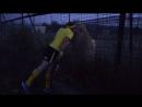 Тенисный матч в Тайгане.Львы Чип и Дейл в роли зрителей.