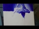 Балерина шариковой ручкой by Mostafa Khodeir