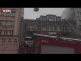 Масштабный пожар в центре Киева: горит жилой дом