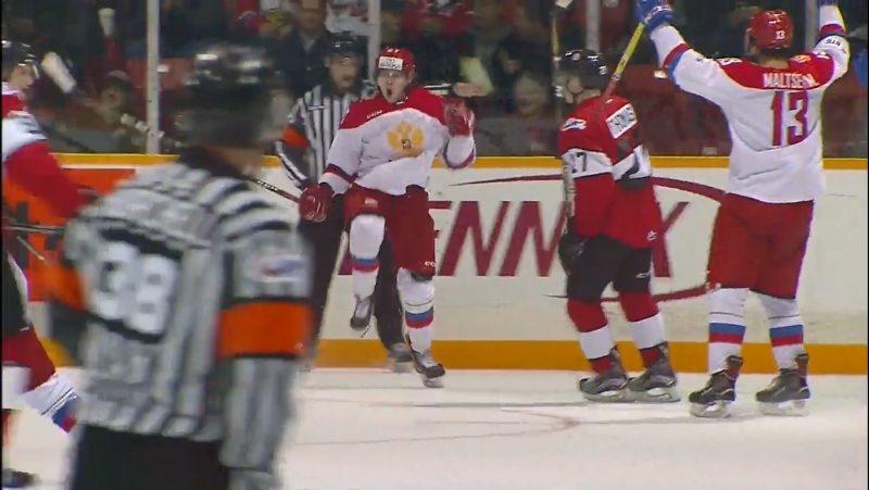 CIBC Canada Russia Series. Матч №3. Россия - Сборная юниорской лиги Онтарио (5:2)