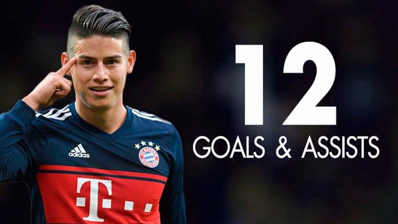 James Rodriguez ● All 12 Goals Assists for Bayern Munich - 2018