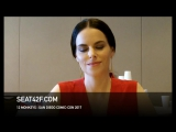 Emily Hampshire интервью  12 Обезьян  12 Monkeys  Interview  Comic Con