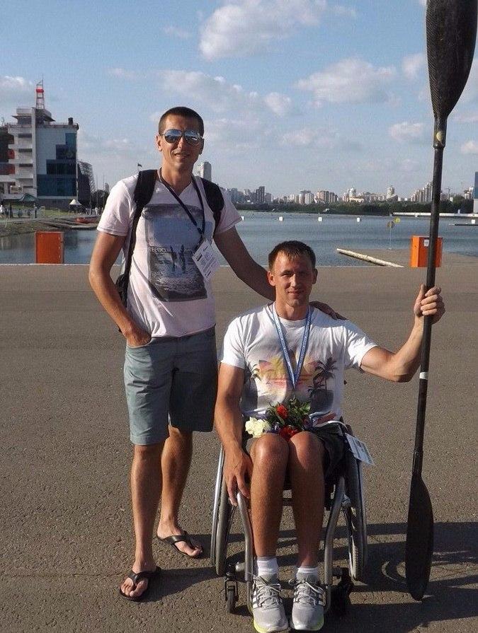 Андрей со своим тренером Александром Мокшиным