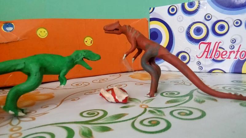 Тирекс против аллозавра.