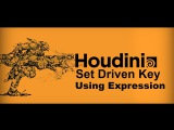 Houdini Tutorial: Set Driven Key by using expression. with Houdini exercise files