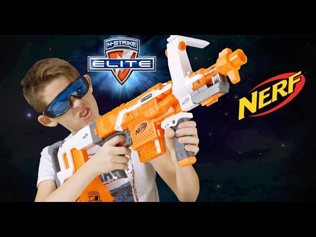 Распаковка или обзор Детские игрушки Нёрф Страйф Review or unboxing toys Nerf Stryfe