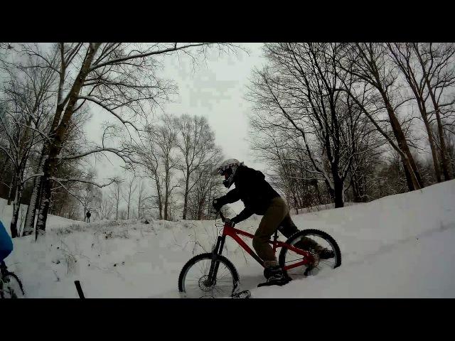 Видосик с моими охами и ахами тк снегу по колено