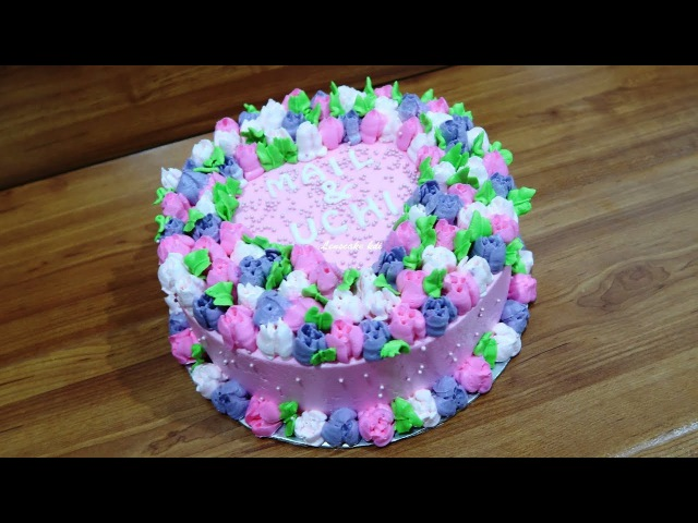 Cara membuat Kue Ulang Tahun Bunga Mawar Simpel
