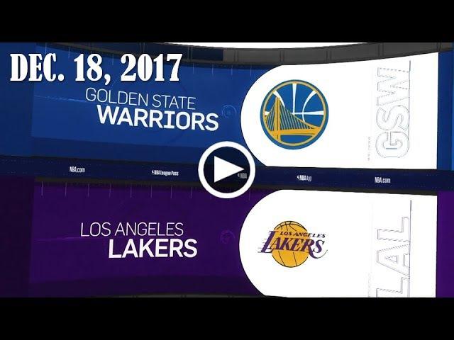 Golden State Wаrriоrs - LА Lаkеrs   18.12.17   201718 NBA Season