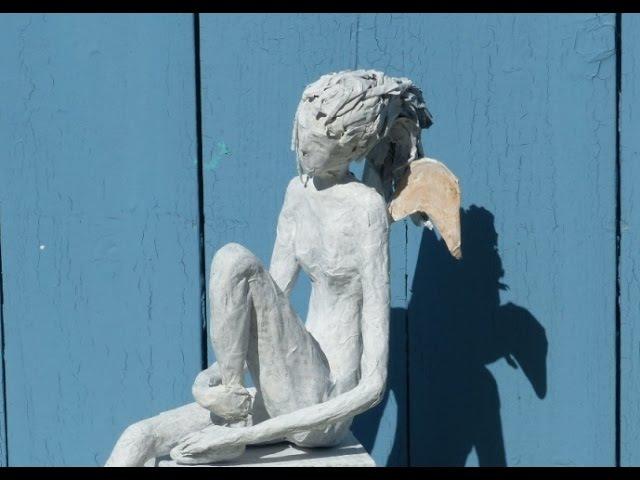 Alice-ART, Waiting for Incarnation, Engel aus Papier und Kleister, Angel made of paper