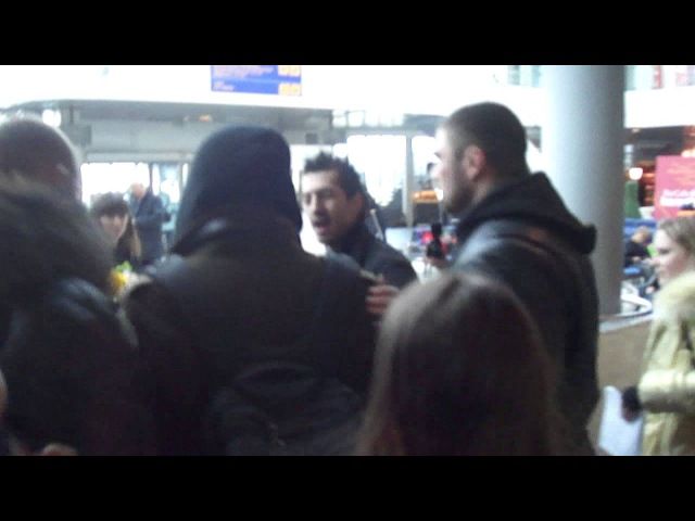 Adam Lambert arrived in Sankt-peterburg.19.03.2013. part3