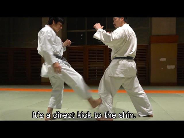 激痛!伝統派空手のローキック! Low-kick technique from Wado-ryu!