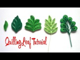 QUILLING LEAVES TUTORIAL  DIY PAPER LEAVES