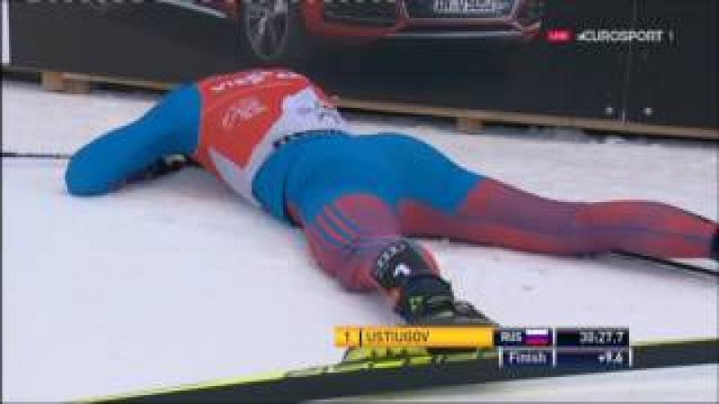Лыжи. Устюгов. Победа в Тур де Ски. Валь-ди-Фьемме. Преследование в гору. 9 км.