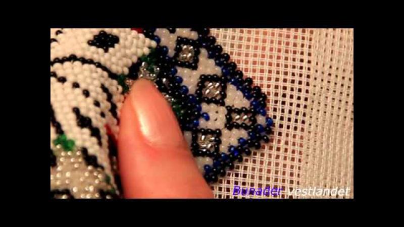 Perlet brystduk til Hardanger bunad