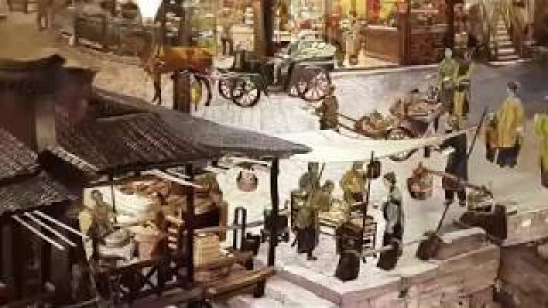 Картина китайского художника вышитая шелком