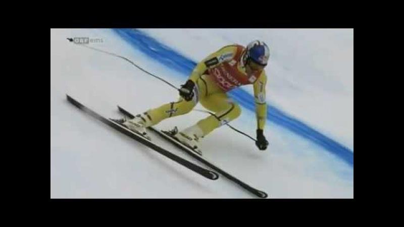 Aksel Lund Svindal wins Super G in Kitzbuhel
