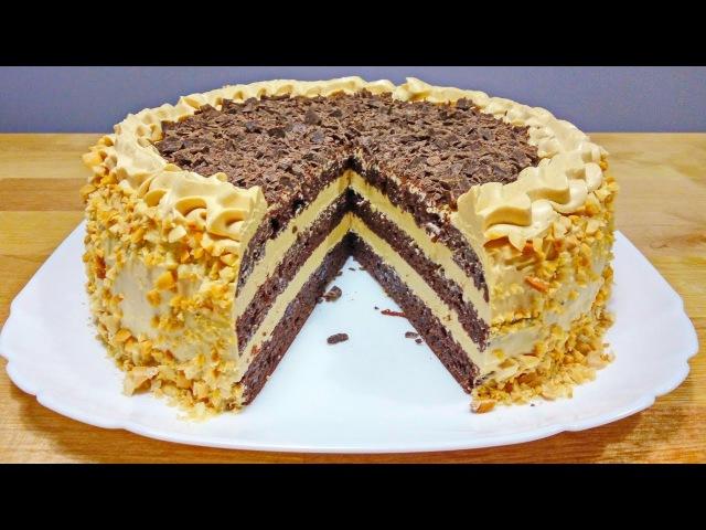 Шоколадный ТОРТ Сувенирный | Сметанный Бисквит и Крем Огонёк Chocolate cake