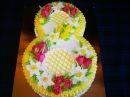 Торт на 8 Марта Бисквитный торт с заварным кремом и конфитюром с чёрной смородины Рецепт торта