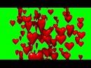 FREE GREEN SCREEN HEART ☯ CHROMA KEY ☯ ФУТАЖ ХРОМАКЕЙ СЕРДЦЕ ☛ yda4aTV