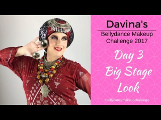 Davina's Belly Dance Makeup Challenge - Day 3 -Big Stage look - Turban Tying Demo