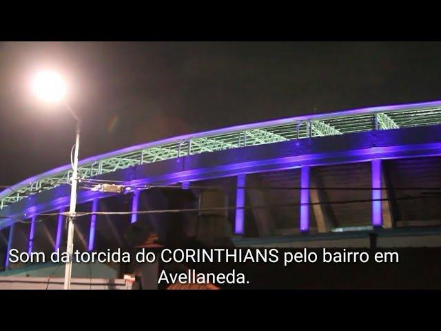 Som da torcida do CORINTHIANS na rua de Avellaneda no estádio El Cilindro