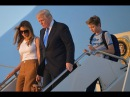 Barron Trump With a Fidget Spinner Arrives in Washington with The Trump Family