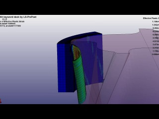 Modeling of milling process in the ls-dyna