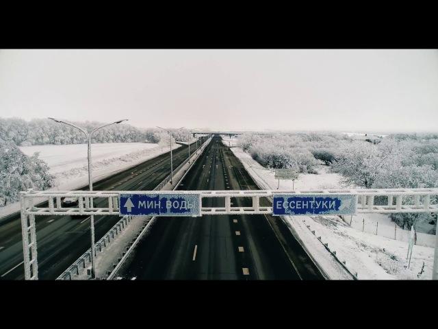 Fly over the frozen land (DJI Phantom) | Полет над замерзшей землей