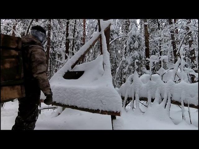 🌲Одиночный Поход в Зимний Лес | Ночёвка в Примитивном Укрытии • Solo Winter Overnight in the Wood