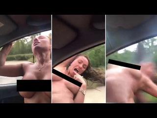 Turista russa morre atingida por uma placa ao se equilibrar de topless na janela de um carro