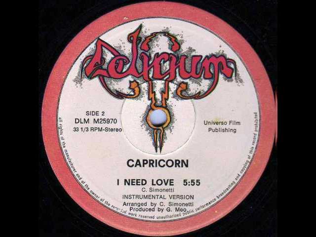 Capricorn -- I Need Love -- Instrumental Version 1982 slow
