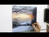 #57 HOW TO PAINT A SNOWY ROAD Oil Painting Michael James Smith