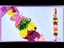 DIY How to make Easter palm decoration out of tissue paper (ENG Subtitles) - Speed up 454