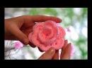 Цветок РОЗА крючком Розочка на детскую шапочку Пошаговый МК для начинающих