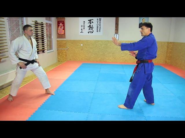 24 Уширо Шитатэ Дори-Кюсё Нуки. Ushiro Shitate Dori-Kuosho Nuki. Освобождение при обхвате тулов ...