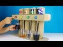 Let's make Soda Fountain Machine with Coca Cola,Fanta,Sprite,Welch's drinks 탄산음료 자판기를 만들어보자