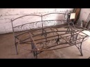 Скамейки для овального стола (каркасы)