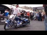 Dan Brown's Killer Bagger - Harley Davidson Road King with Flame Thrower - Africa Bike Week 2012.
