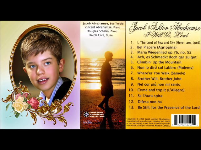 Jacob Ashton Abrahamse, boy soprano, sings Be Still for the Presence of the Lord, 2009
