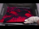 Abstract Art Painting Red Ice II by Brigitte König - Fluid Acrylic Painting - Abstrakte Malerei