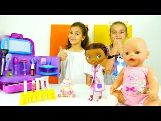 Bebek bakma oyunu. Ayça ve Sema bebeği Dr Mc Stuffins'e götürüyor. #Doktoroyunları!