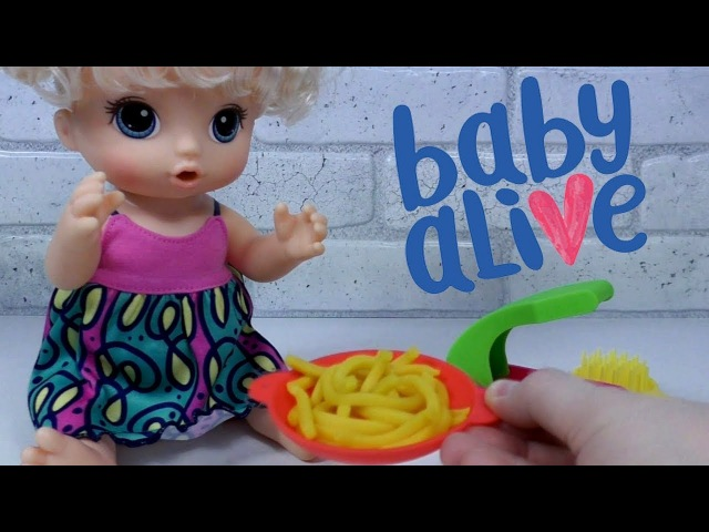 New Doll Baby Alive SUPER SNACKS Новая Кукла Беби Элайв МАЛЫШКА И ЛАПША Макароны из Play Doh /BLT TV