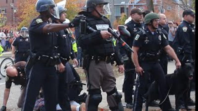 Riot Police Shoot Pepper Spray at Keene State Students » Freewka.com - Смотреть онлайн в хорощем качестве