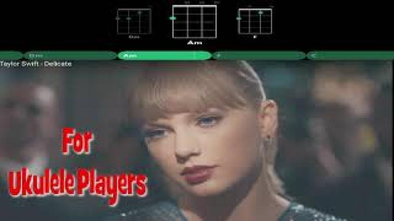 Taylor Swift Delicate For Ukulele